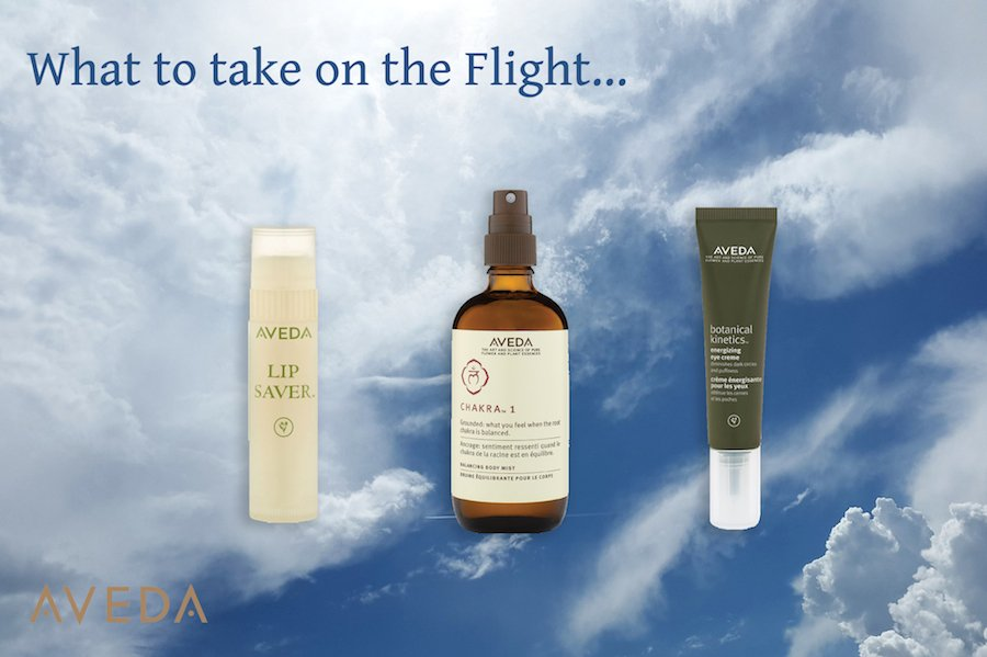 What Aveda Travel Essentials to take on holiday on the flight