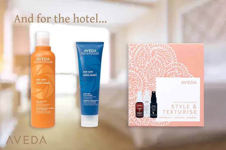What Aveda Travel Essentials to take on holiday to the hotel
