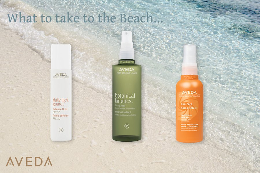 What Aveda Travel Essentials to take to the beach