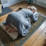 Balasana childs pose restorative yoga pose for christmas stress guildford mary ann weeks aveda