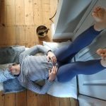 Viparita Karani legs up the wall restorative yoga pose mary ann weeks aveda guildford relax destress at christmas